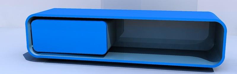 Van De Laar Interieur u00bb Concept tekening TV meubel blauw